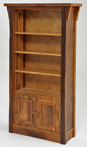 Barnwood Bookcase Reclaimed Antique Wood
