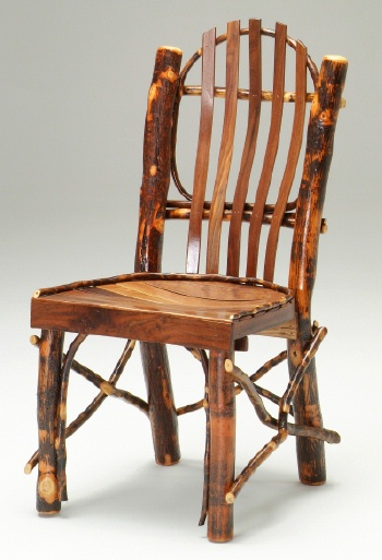Charmant Black Walnut And Natural Hickory Log Chair