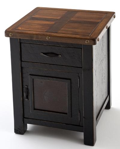 Cottage End Table Painted Furniture Reclaimed Rustic Aged