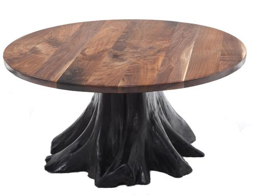 Rustic Dining Table Stump Baseb