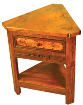Superieur Corner End Table With Copper 1
