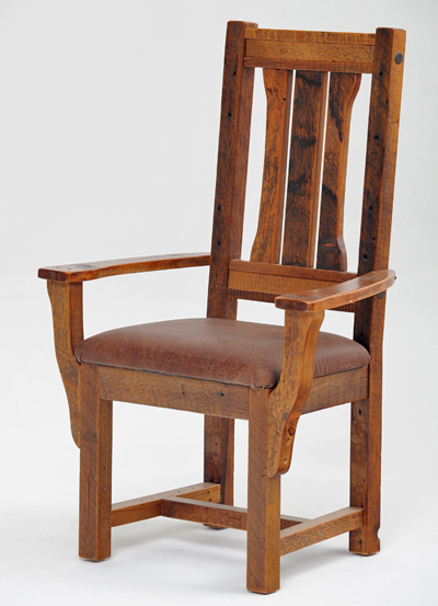 Rustic Dinette Chair Barnwood Seating Antique Wood Chairs