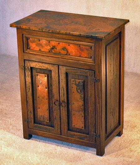 Reclaimed Copper End Table