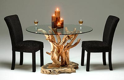 Driftwood Look Dining Table