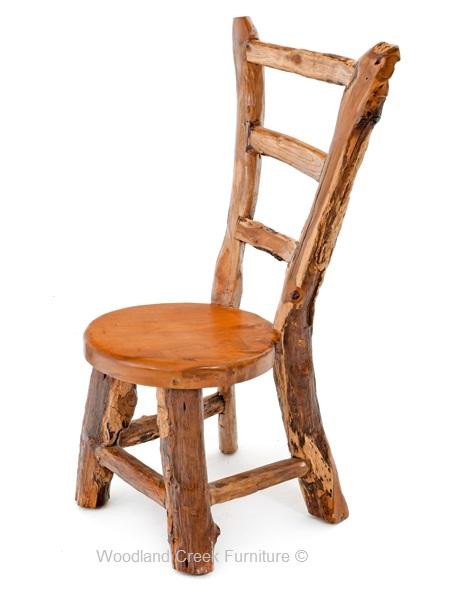 Ladder Back Log Dining Chair