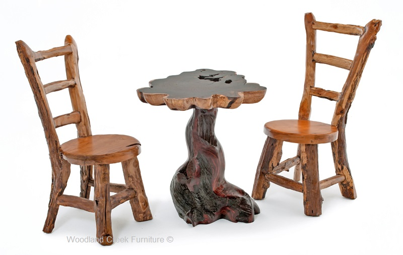 Natural Log Side Chairs